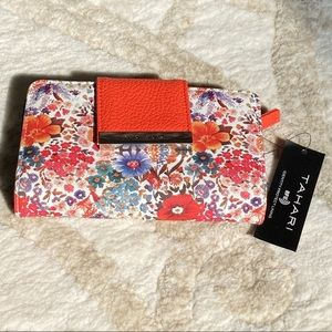 NWT Tahari Wallet Tangerine/Floral